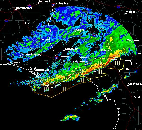 Radar Image for Severe Thunderstorms near Carrabelle, FL at 3/3/2016 11:54 PM EST