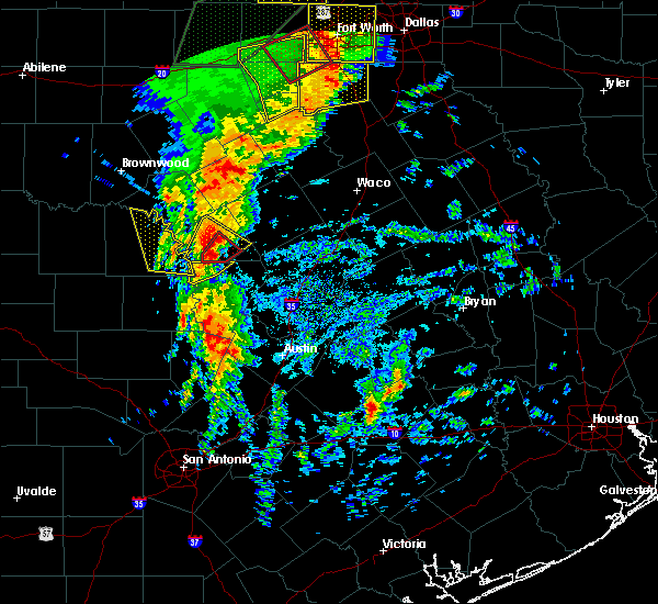 Radar Image for Severe Thunderstorms near Lampasas, TX at 3/8/2016 8:15 AM CST