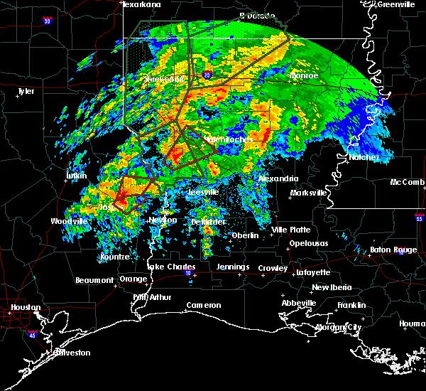 Radar Image for Severe Thunderstorms near Hemphill, TX at 3/8/2016 7:21 PM CST