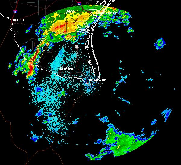 Radar Image for Severe Thunderstorms near Regino Ramirez, TX at 3/9/2016 1:18 AM CST