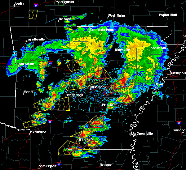 Radar Image for Severe Thunderstorms near Friendship, AR at 3/13/2016 7:21 PM CDT