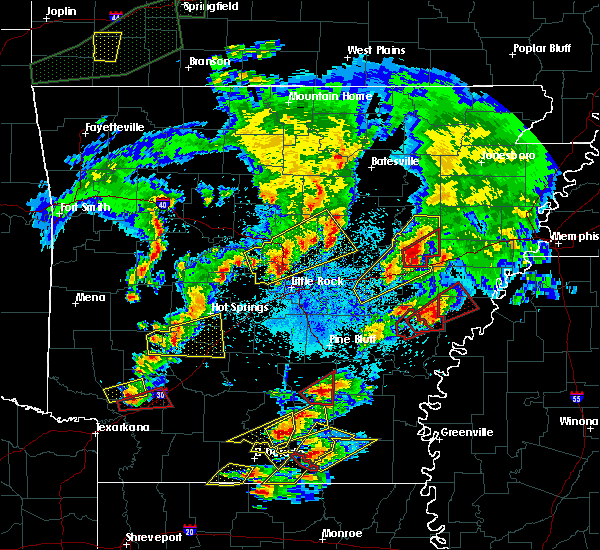 Radar Image for Severe Thunderstorms near Rondo, AR at 3/13/2016 7:40 PM CDT