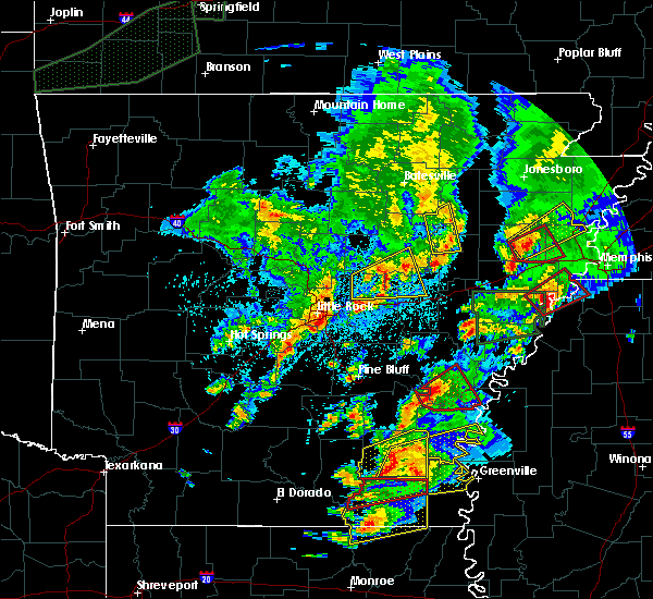 Radar Image for Severe Thunderstorms near Arkansas City, AR at 3/13/2016 9:01 PM CDT
