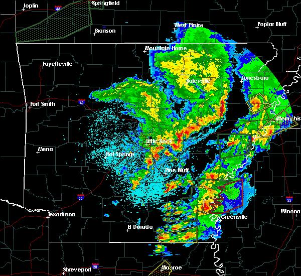 Radar Image for Severe Thunderstorms near Arkansas City, AR at 3/13/2016 9:36 PM CDT