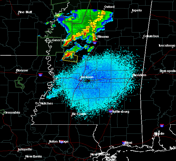 Radar Image for Severe Thunderstorms near Eden, MS at 3/14/2016 12:27 AM CDT