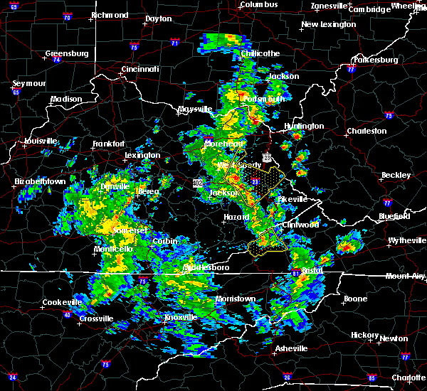 Radar Image for Severe Thunderstorms near Warfield, KY at 3/14/2016 3:36 PM EDT