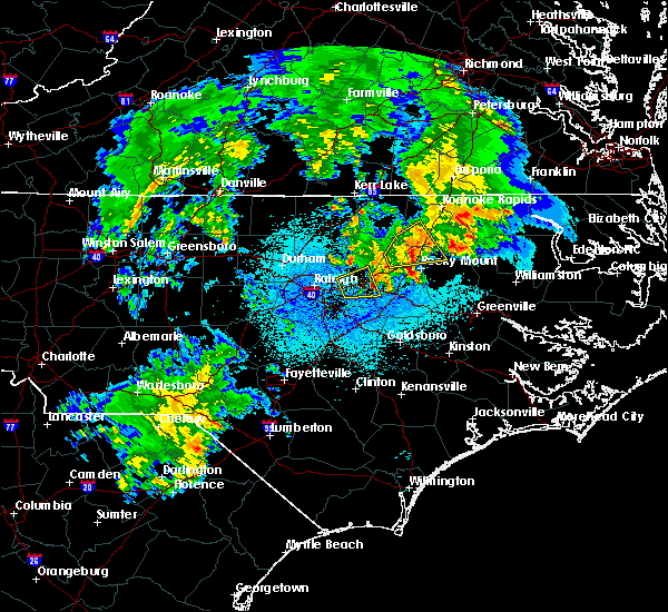 Radar Image for Severe Thunderstorms near Hollister, NC at 3/14/2016 11:46 PM EDT