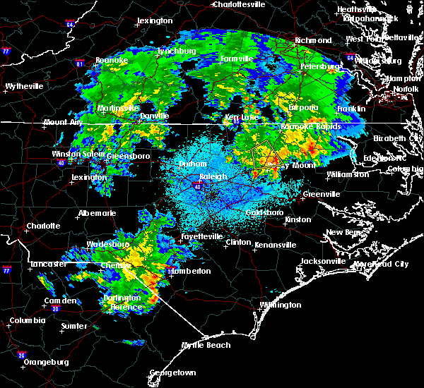 Radar Image for Severe Thunderstorms near Hollister, NC at 3/15/2016 12:10 AM EDT