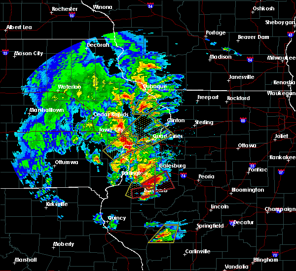 Radar Image for Severe Thunderstorms near Avon, IL at 3/15/2016 6:52 PM CDT