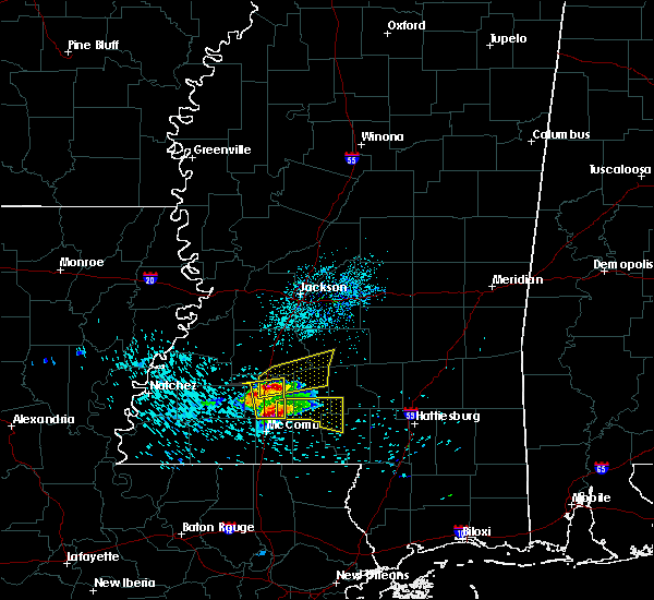 Radar Image for Severe Thunderstorms near New Hebron, MS at 3/17/2016 9:27 AM CDT