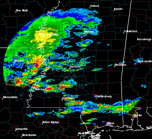 Radar Image for Severe Thunderstorms near Wesson, MS at 3/17/2016 2:58 PM CDT
