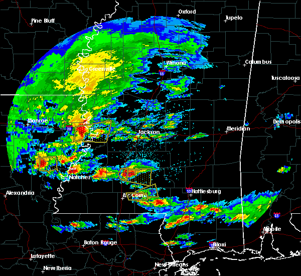 Radar Image for Severe Thunderstorms near New Hebron, MS at 3/17/2016 3:10 PM CDT