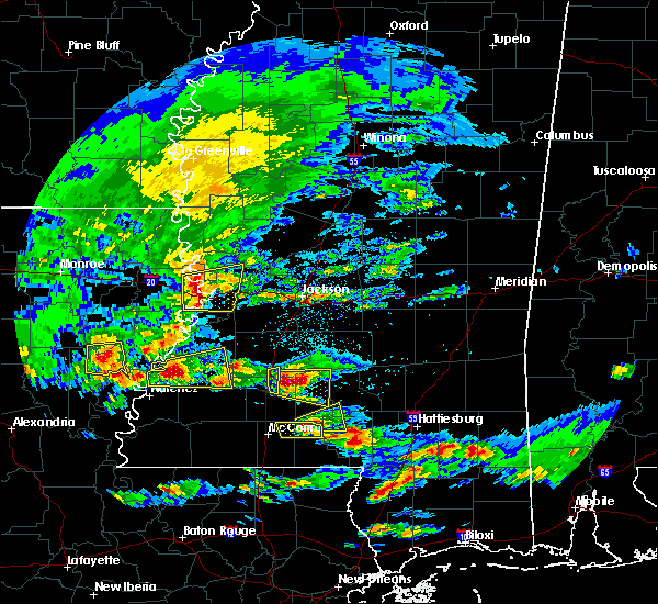 Radar Image for Severe Thunderstorms near Fayette, MS at 3/17/2016 3:20 PM CDT