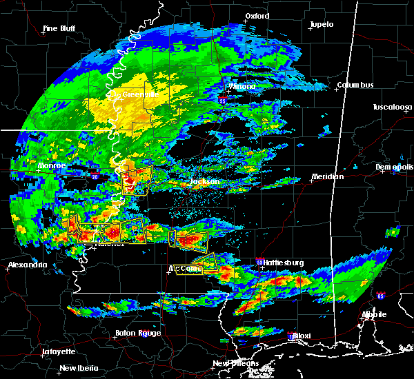 Radar Image for Severe Thunderstorms near Fayette, MS at 3/17/2016 3:27 PM CDT