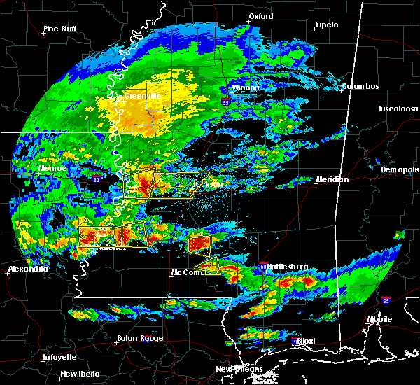 Radar Image for Severe Thunderstorms near Fayette, MS at 3/17/2016 3:34 PM CDT