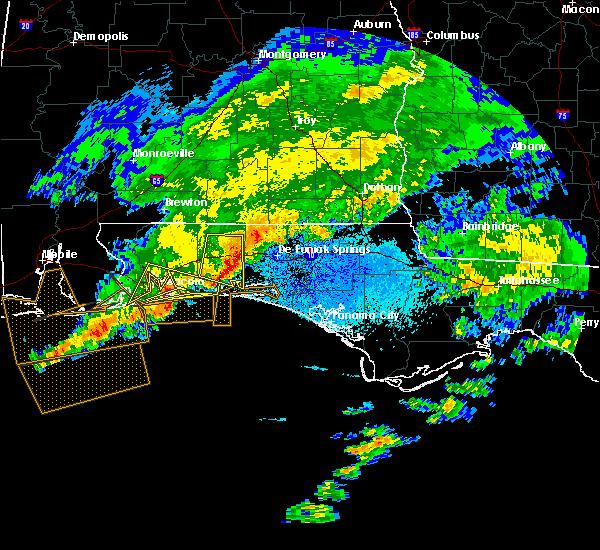 Radar Image for Severe Thunderstorms near Crestview, FL at 3/17/2016 10:18 PM CDT