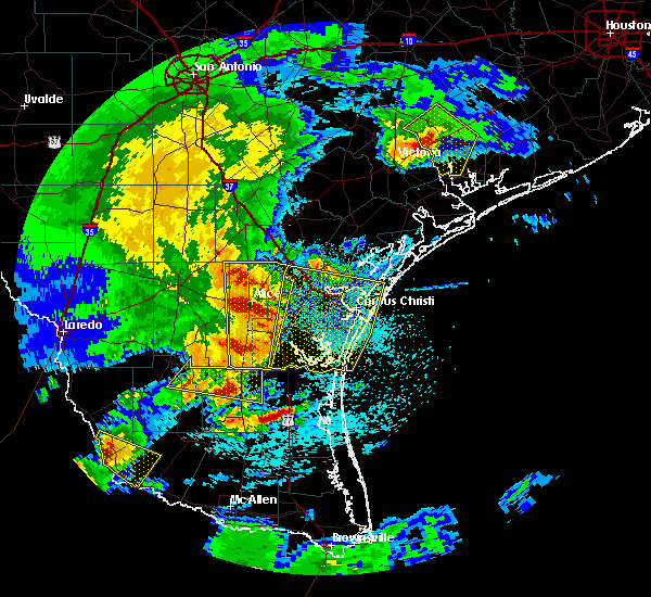 Radar Image for Severe Thunderstorms near Corpus Christi, TX at 3/19/2016 12:07 AM CDT