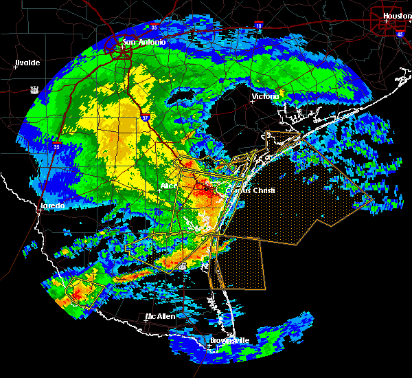 Radar Image for Severe Thunderstorms near Corpus Christi, TX at 3/19/2016 12:49 AM CDT
