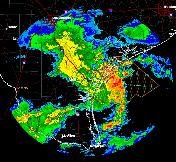 Radar Image for Severe Thunderstorms near Corpus Christi, TX at 3/19/2016 1:55 AM CDT