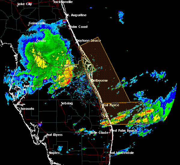Radar Image for Severe Thunderstorms near Melbourne, FL at 3/25/2016 3:24 PM EDT