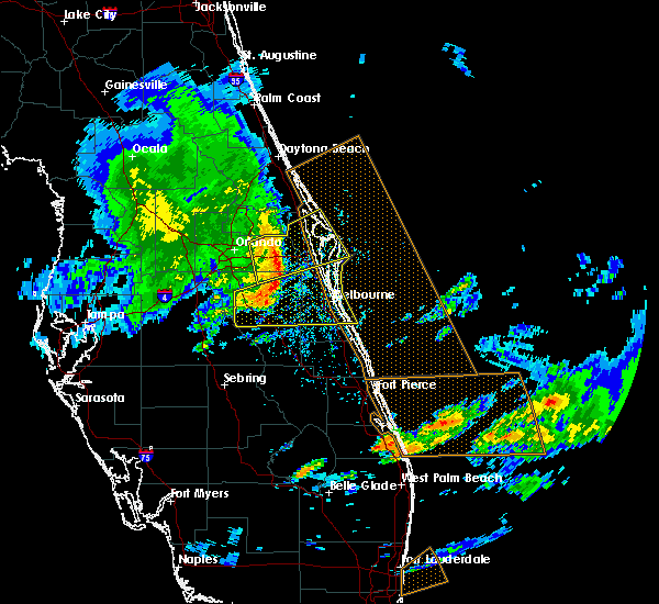 Radar Image for Severe Thunderstorms near Merritt Island, FL at 3/25/2016 3:33 PM EDT