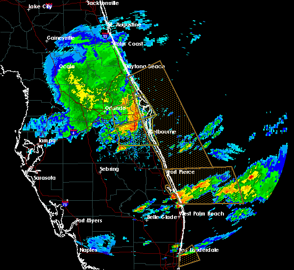 Radar Image for Severe Thunderstorms near Melbourne, FL at 3/25/2016 3:46 PM EDT