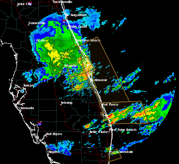 Radar Image for Severe Thunderstorms near Merritt Island, FL at 3/25/2016 3:57 PM EDT