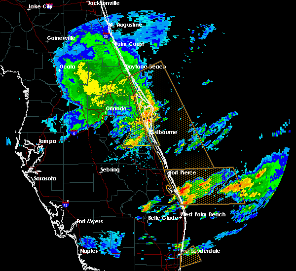Radar Image for Severe Thunderstorms near Malabar, FL at 3/25/2016 4:03 PM EDT