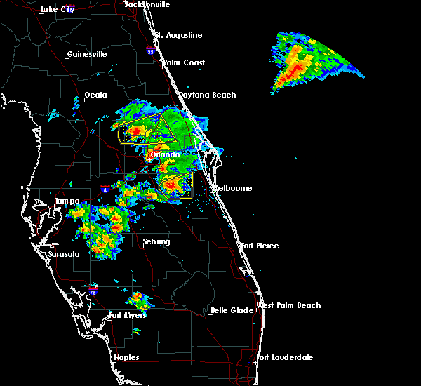 Radar Image for Severe Thunderstorms near Sorrento, FL at 3/26/2016 7:32 PM EDT