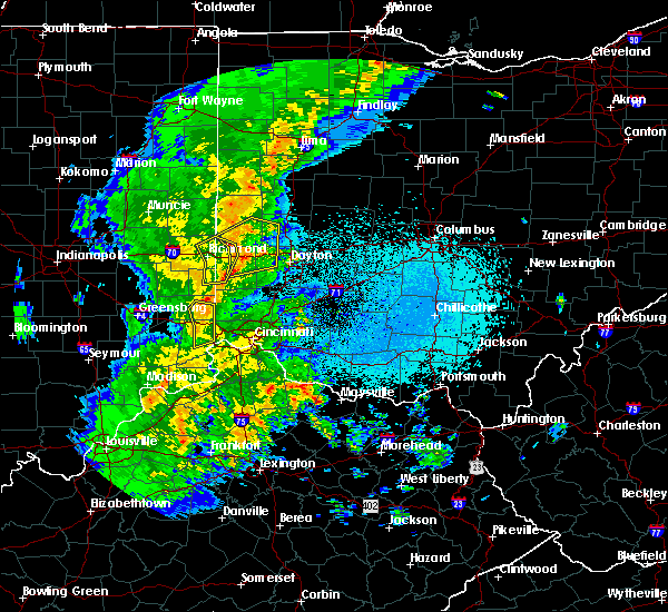 Radar Image for Severe Thunderstorms near Bradford, OH at 3/27/2016 10:36 PM EDT