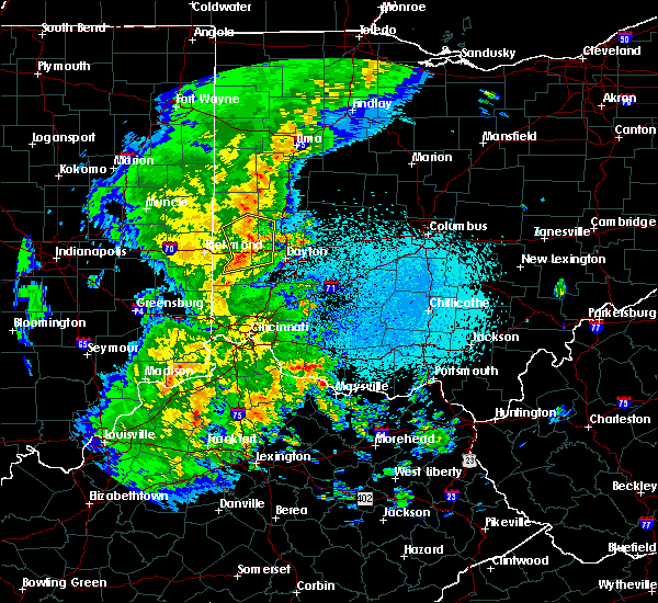 Radar Image for Severe Thunderstorms near Bradford, OH at 3/27/2016 10:46 PM EDT
