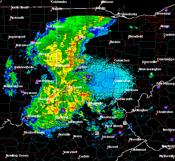 Radar Image for Severe Thunderstorms near Covington, OH at 3/27/2016 10:54 PM EDT