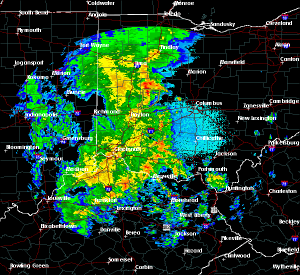 Radar Image for Severe Thunderstorms near Springfield, OH at 3/27/2016 11:24 PM EDT