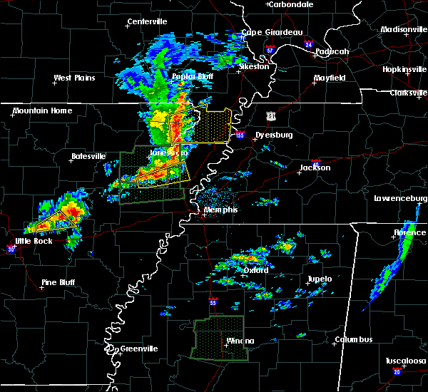Radar Image for Severe Thunderstorms near Rector, AR at 3/31/2016 11:04 AM CDT