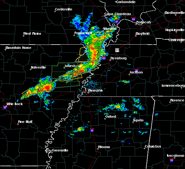 Radar Image for Severe Thunderstorms near Parkin, AR at 3/31/2016 11:33 AM CDT