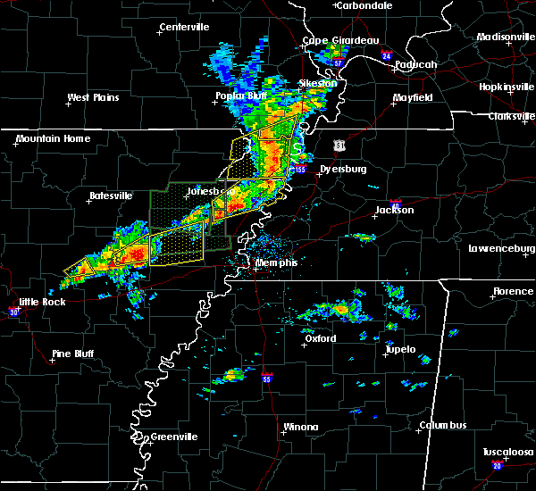 Radar Image for Severe Thunderstorms near Gosnell, AR at 3/31/2016 11:35 AM CDT