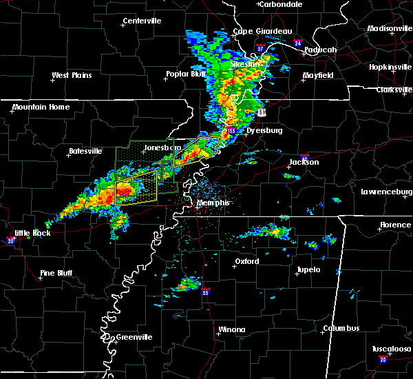 Radar Image for Severe Thunderstorms near Parkin, AR at 3/31/2016 11:54 AM CDT
