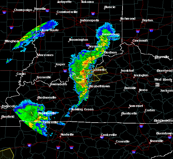 Radar Image for Severe Thunderstorms near Worthington Hills, KY at 3/31/2016 4:14 PM EDT