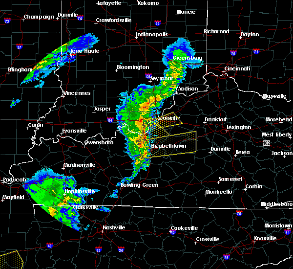 Radar Image for Severe Thunderstorms near Loretto, KY at 3/31/2016 4:17 PM EDT