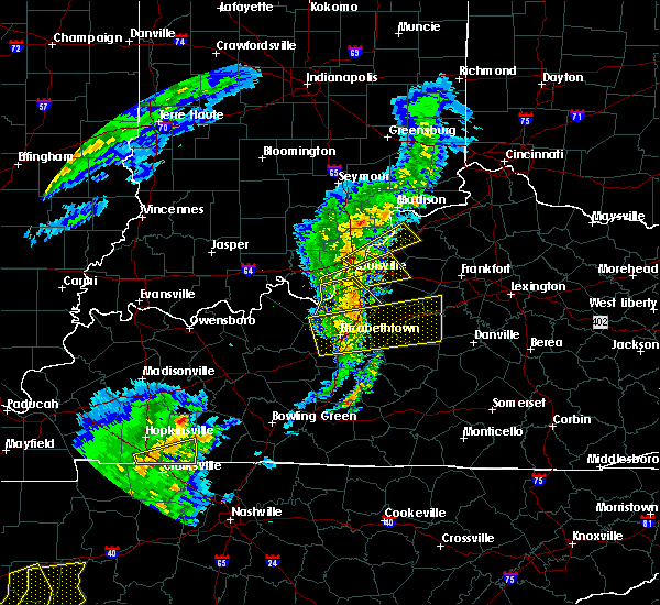 Radar Image for Severe Thunderstorms near Charlestown, IN at 3/31/2016 4:27 PM EDT