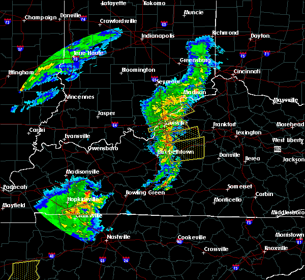 Radar Image for Severe Thunderstorms near Crestwood, KY at 3/31/2016 4:37 PM EDT