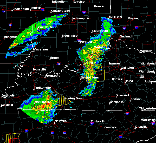 Radar Image for Severe Thunderstorms near Westport, KY at 3/31/2016 4:45 PM EDT