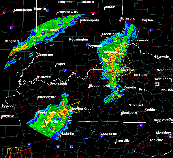Radar Image for Severe Thunderstorms near Carrollton, KY at 3/31/2016 5:05 PM EDT