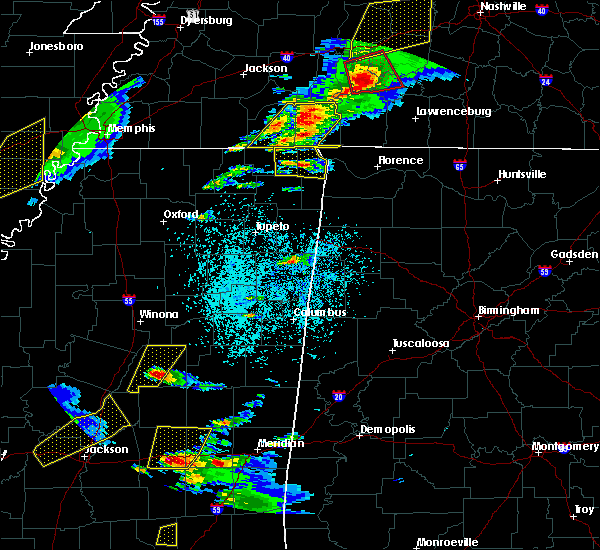 Radar Image for Severe Thunderstorms near Corinth, MS at 3/31/2016 4:24 PM CDT