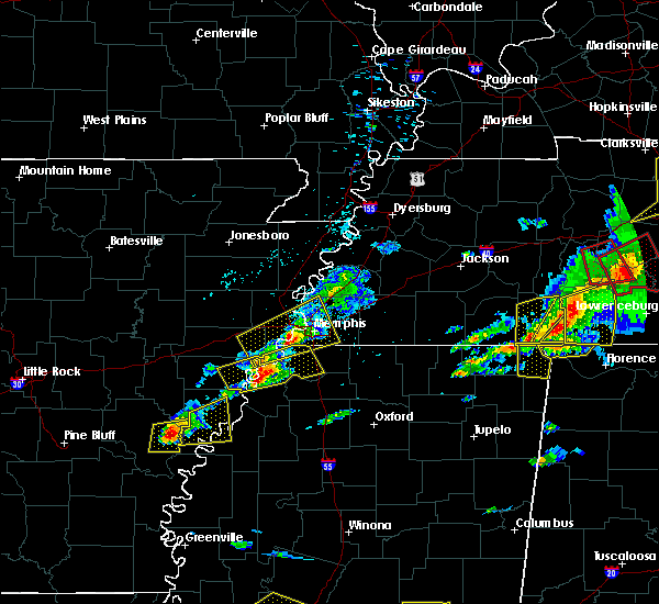 Radar Image for Severe Thunderstorms near West Memphis, AR at 3/31/2016 4:56 PM CDT