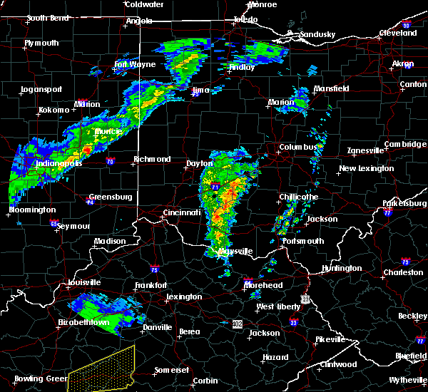 Radar Image for Severe Thunderstorms near Good Hope, OH at 3/31/2016 6:27 PM EDT