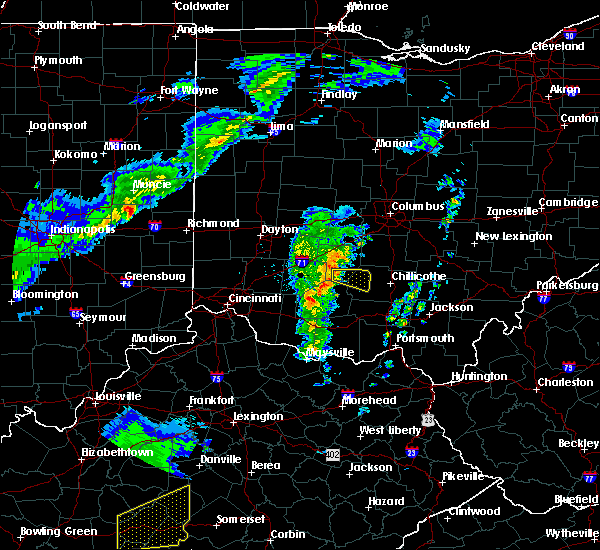 Radar Image for Severe Thunderstorms near Pancoastburg, OH at 3/31/2016 6:37 PM EDT