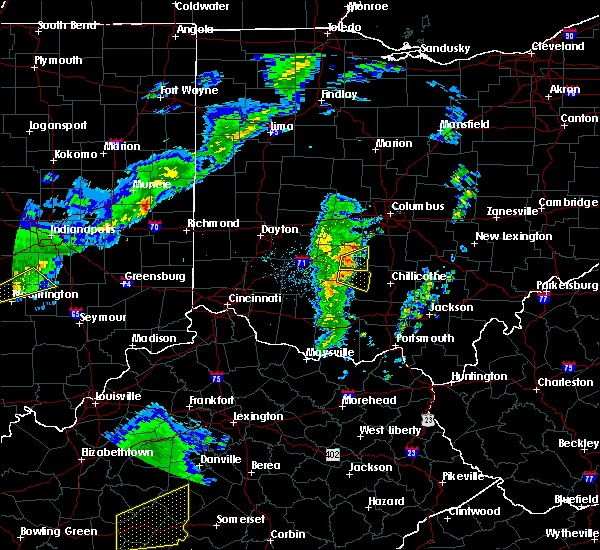 Radar Image for Severe Thunderstorms near Good Hope, OH at 3/31/2016 6:43 PM EDT
