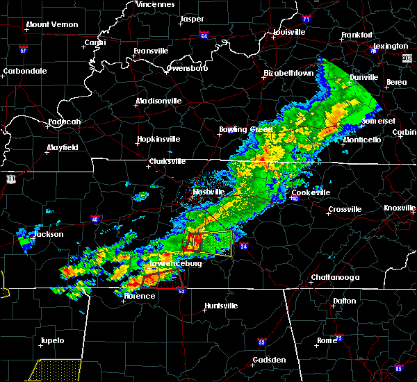 Radar Image for Severe Thunderstorms near Chapel Hill, TN at 3/31/2016 6:09 PM CDT