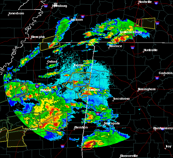 Radar Image for Severe Thunderstorms near Nettleton, MS at 3/31/2016 6:13 PM CDT